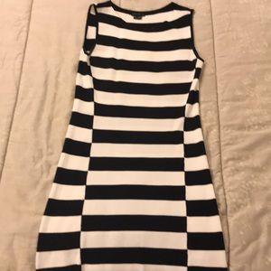 Theory sleeveless navy & white dress Size S
